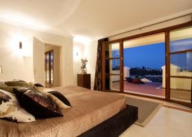 Modern design Master bedroom of villa for sale at Marbella