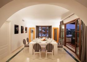 elegant dining room of villa for sale at Marbella