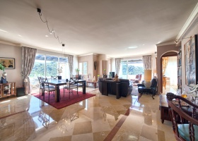 Spacious living room in La Quinta Marbella Spain