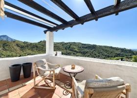 Blick in die Berge von La Quinta Marbella Spanien