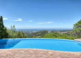 sea view of villa for sale at Marbella